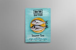 Blue Fish Darling Harbour Summer Menu Design Cover